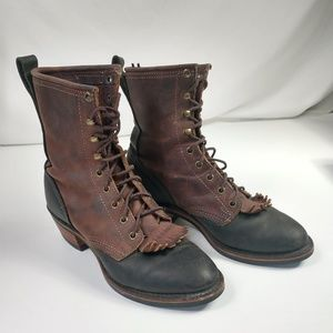 Santa Fe Boot Co. Brown / Black Leather Lace-Up